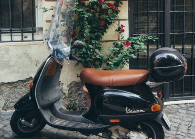 Polsterung für Vespas und Mopeds