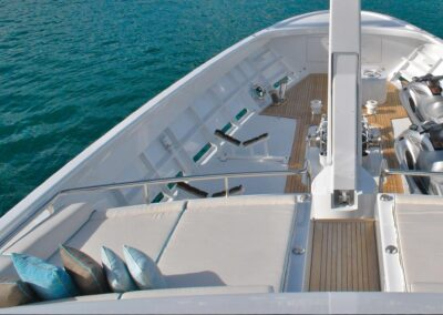 Yachtpolster im Außenbereich