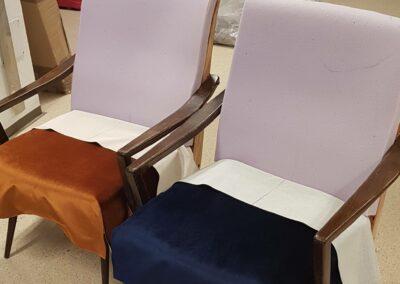 Sessel während der Polsterung