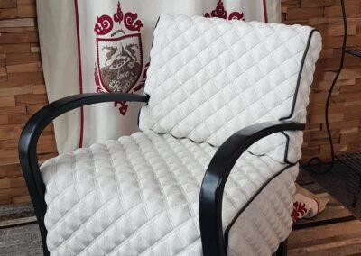 Gesteppt gepolsterter Sessel